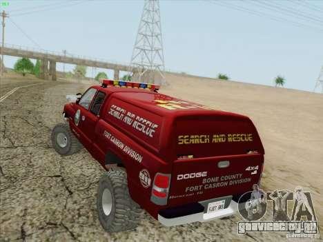 Dodge Ram 3500 Search & Rescue для GTA San Andreas колёса