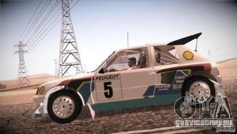 Peugeot 205 T16 для GTA San Andreas