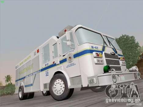 Pierce Fire Rescues. Bone County Hazmat для GTA San Andreas вид справа