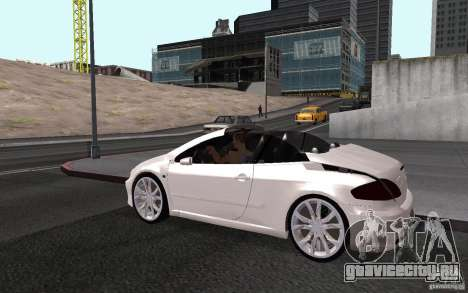 Peugeot 307CC BMS для GTA San Andreas вид сверху