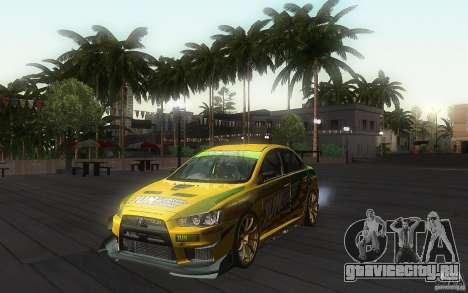 Mitsubishi Lancer Evolution X Gymkhana для GTA San Andreas