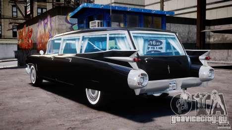 Cadillac Miller-Meteor Hearse 1959 для GTA 4 вид сзади слева