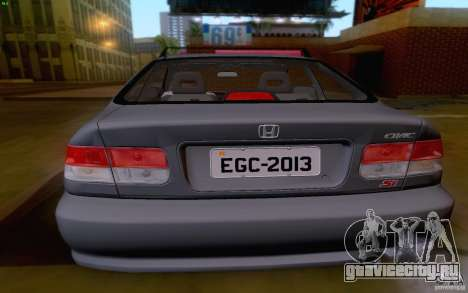 Honda Civic 1999 для GTA San Andreas вид сзади