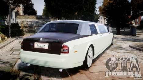 Rolls Royce Phantom Sapphire Limousine Disco для GTA 4 вид сзади слева