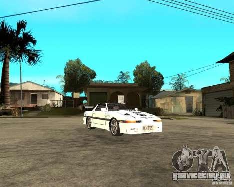Toyota Supra MK3 Tuning для GTA San Andreas вид сзади