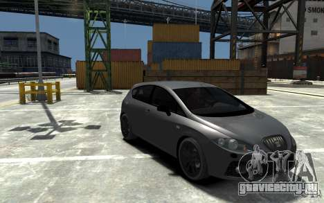 Seat Leon Cupra v.2 для GTA 4 вид сзади
