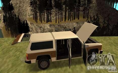 Гражданский FBI Rancher для GTA San Andreas вид справа