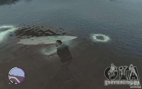 Доска для сёрфинга для GTA 4 вид сзади слева