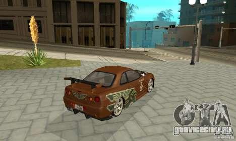 Nissan Skyline R-34 GTR для GTA San Andreas салон