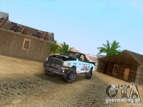 Dodge Ram Trophy Truck для GTA San Andreas вид справа