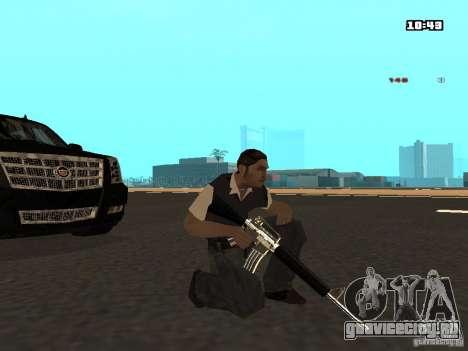 White Red Gun для GTA San Andreas пятый скриншот