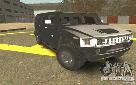 Hummer H2 Stock для GTA San Andreas вид изнутри
