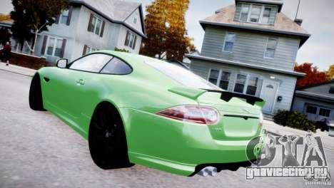 Jaguar XKR-S 2012 для GTA 4 вид слева