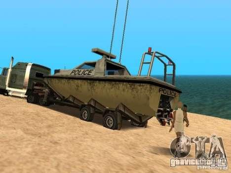 Прицеп для лодок для GTA San Andreas вид справа