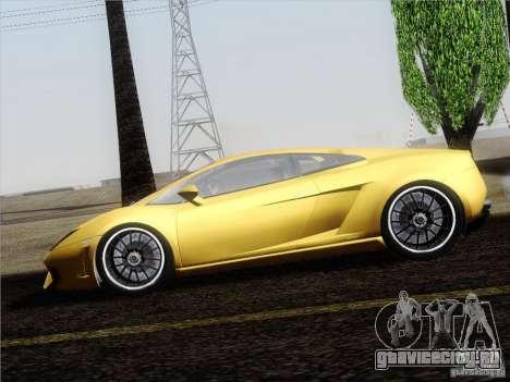 Lamborghini Gallardo LP640 Vallentino Balboni для GTA San Andreas вид сзади