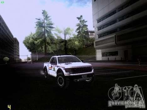 Ford Raptor Royal Canadian Mountain Police для GTA San Andreas вид сзади слева