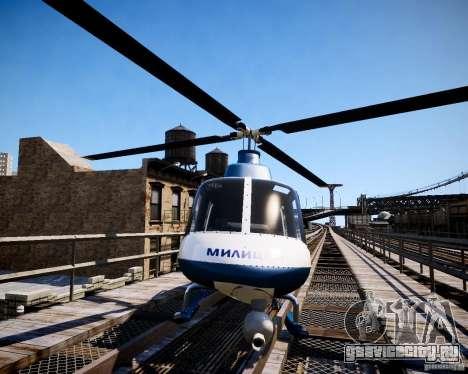 Russian Police Maverick для GTA 4 вид справа