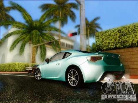 Subaru BRZ S 2012 для GTA San Andreas вид сзади слева