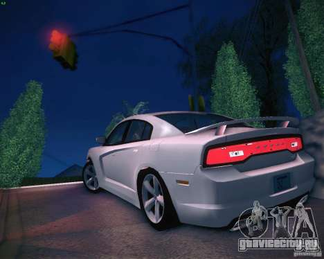 Dodge Charger 2011 v.2.0 для GTA San Andreas вид сзади слева