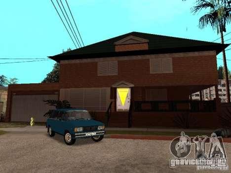 Дом CJ по русски для GTA San Andreas
