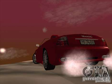 Maserati Spyder Cambiocorsa для GTA San Andreas вид сверху
