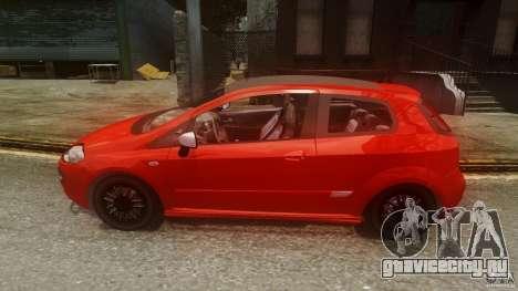 Fiat Punto Evo Sport 2010 для GTA 4 вид слева
