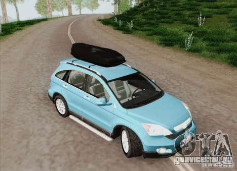 Honda CRV 2011 для GTA San Andreas вид изнутри