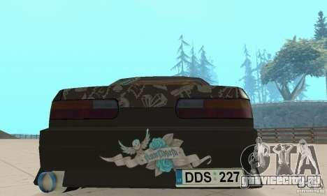 Nissan Silvia S13 NonGrata для GTA San Andreas вид изнутри