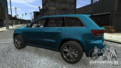 Jeep Grand Cherokee STR8 2012 для GTA 4 вид снизу