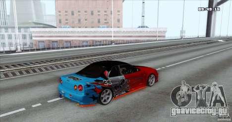Nissan Skyline R34 Evil Empire для GTA San Andreas вид слева
