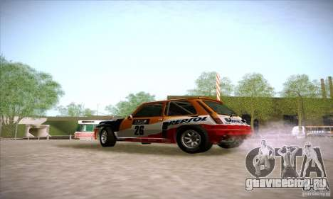 Renault 5 GT Turbo Rally для GTA San Andreas вид слева