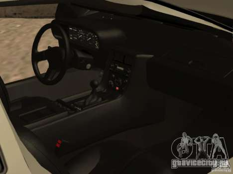 DeLorean DMC-12 для GTA San Andreas вид снизу