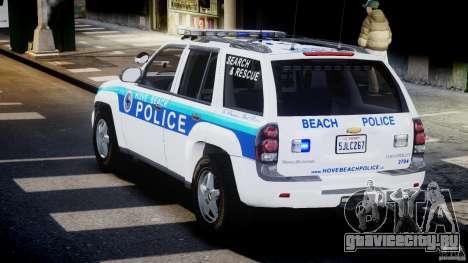 Chevrolet Trailblazer Police V1.5PD [ELS] для GTA 4 вид сзади слева