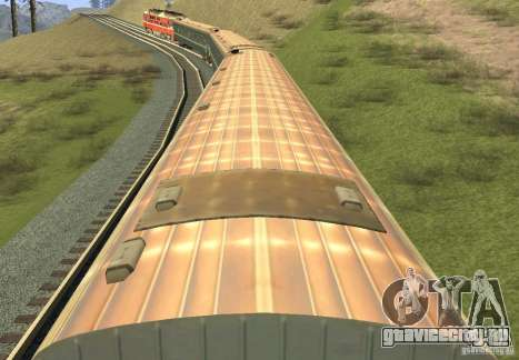 Пассажирский вагон купе 029-28802 для GTA San Andreas вид сзади