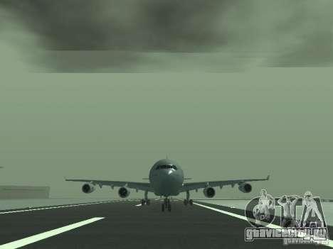 Airbus A340-300 Air France для GTA San Andreas вид сзади