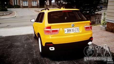 BMW X5 E70 v1.0 для GTA 4 вид сзади слева
