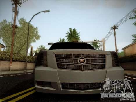 Cadillac Escalade ESV Platinum для GTA San Andreas вид справа