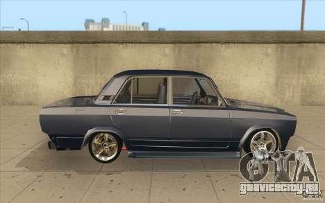 ВАЗ-2107 Lada Street Drift Tuned для GTA San Andreas вид изнутри