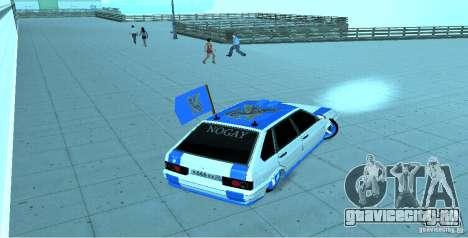 Ваз 2114 Nogay Tun для GTA San Andreas вид сзади слева