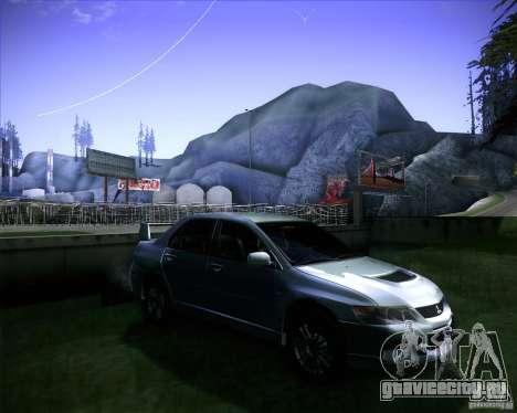 Mitsubishi Lancer Evolution VIII MR для GTA San Andreas вид справа