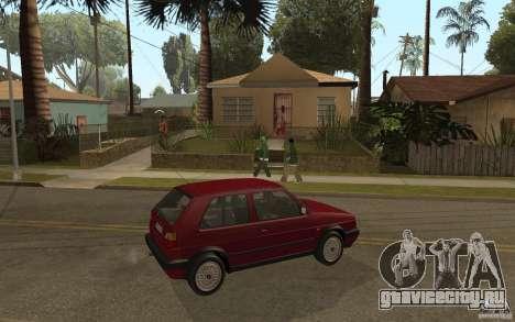 VW Golf Mk2 GTI для GTA San Andreas вид справа