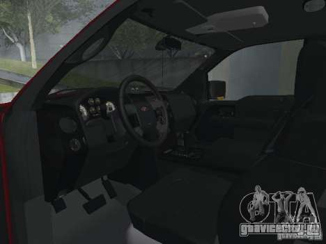 Ford F-150 2005 для GTA San Andreas вид изнутри