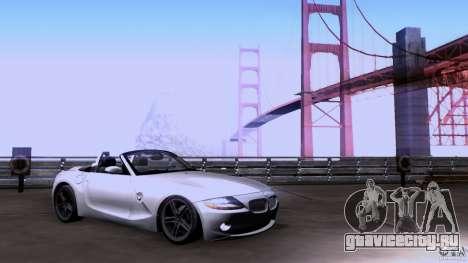 BMW Z4 V10 для GTA San Andreas вид сзади слева
