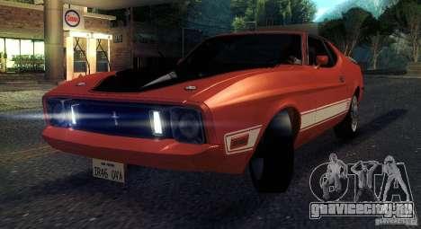 Ford Mustang Mach1 1973 для GTA San Andreas вид изнутри