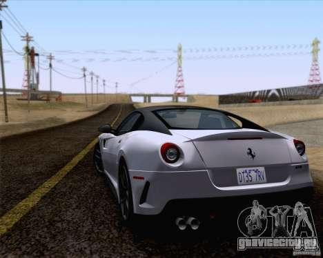 Ferrari 599 GTO 2011 v2.0 для GTA San Andreas вид слева