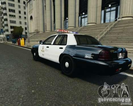 Ford Crown Victoria LAPD для GTA 4 вид справа