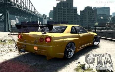 Nissan SkyLine BNR34 для GTA 4 вид слева