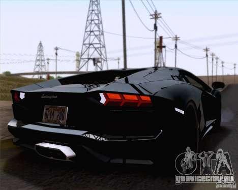 Lamborghini Aventador LP700-4 2011 для GTA San Andreas вид изнутри