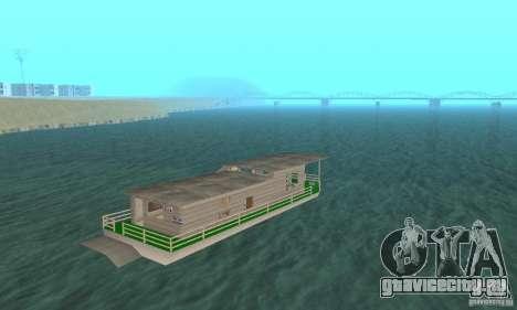 ДОМ НА ПЛАВУ для GTA San Andreas вид слева