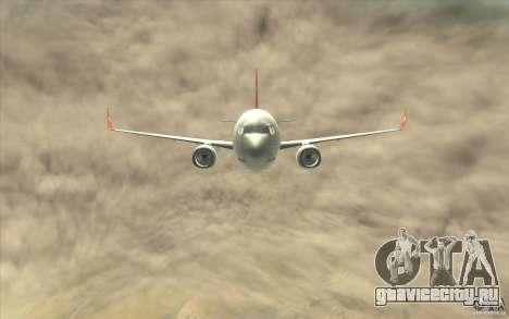 Boeing 737-800 THY для GTA San Andreas вид изнутри
